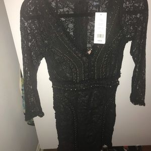 French Connection lace mini-dress